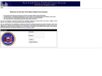 UCMS Inquiry - Login - Judiciary of New York - NYC - NY ...