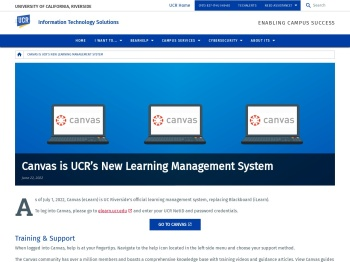 UCR iLearn - University of California, Riverside
