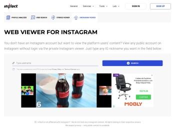 Instagram stalker: free, unlimited Instagram viewer - Inflact