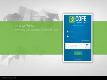 COFE Investor Portal Login - COFE Properties