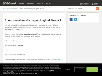 Come accedere alla pagina Login di Drupal? - SiteGround