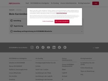 Anmelden | ROSSMANN Unternehmenswebseite