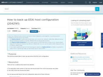 [Beta] How to back up ESXi host configuration (2042141 ...