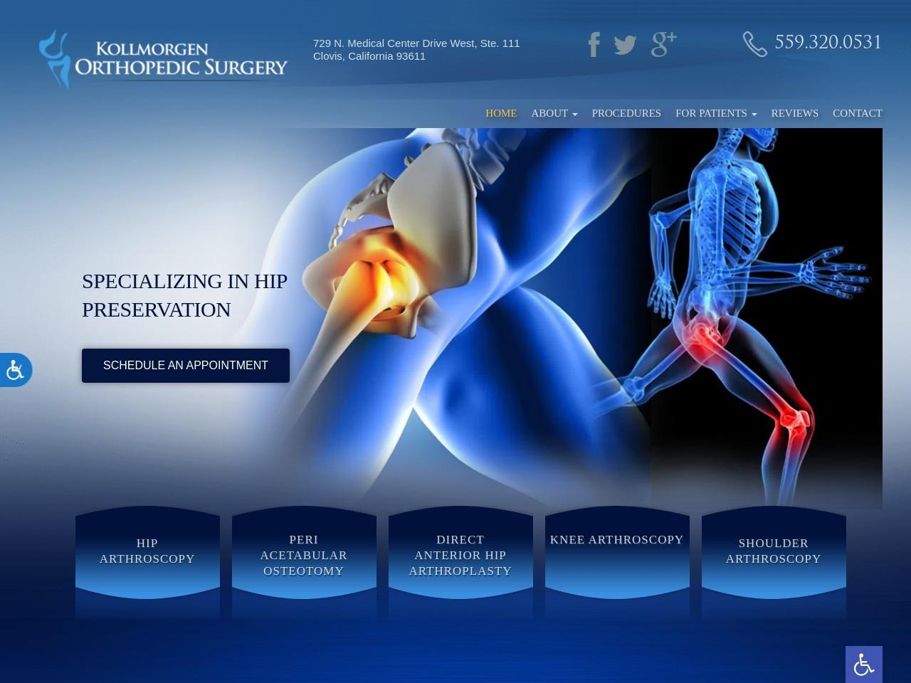 kollmorgen orthodontics website screenshot