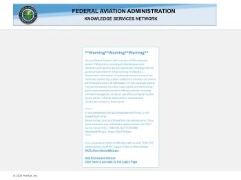 FAA - Logon Page