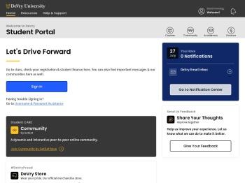 DeVry Student Portal