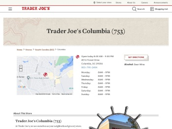 Trader Joe's Columbia (753) - Grocery & Wine Store on 4516 ...