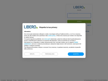 Libero Mail - login