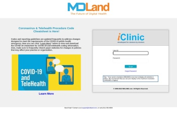 Login iClinic - MDLand