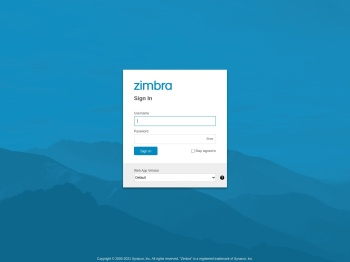 Zimbra Web Client Sign In