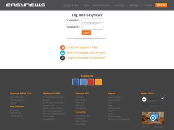Login Page   Easynews.com