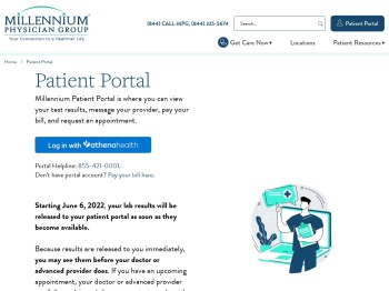 Patient Portal - Millennium Physician Group