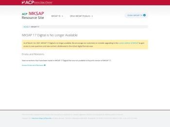 MKSAP 17 - Login Page | ACP