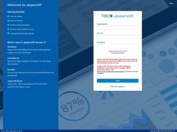 Login - TIBCO Jaspersoft