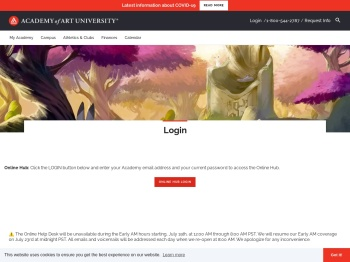 Log In | Academy of Art University