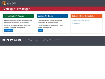myBangor - Bangor University