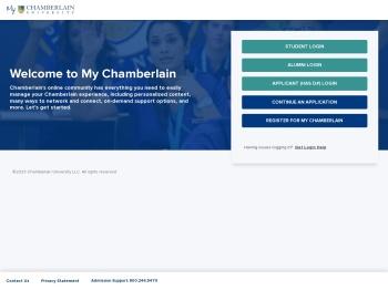 Mychamberlain.Edu - Student Portal - Chamberlain University