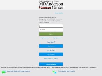 MyChart Login   MD Anderson Cancer Center