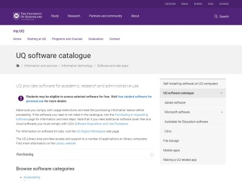 Software at UQ - my.UQ - University of Queensland