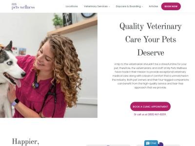 screenshot of My Pets Wellness — Design District's homepage