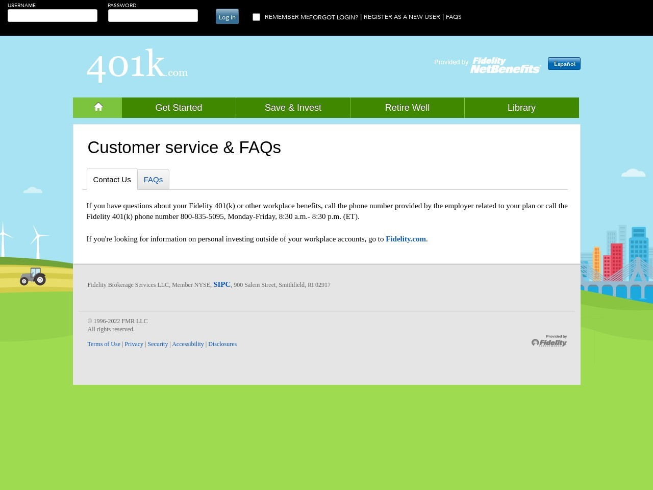 Customer Service - Fidelity Investments