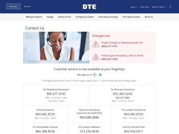 Contact Us - DTE Energy