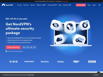 NordVPN: Best VPN service. Online security starts with a click.