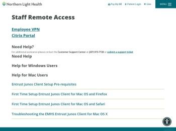 Staff Remote Access - Northern Light Health