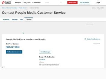 People Media Customer Service Phone Number (866) 727 ...