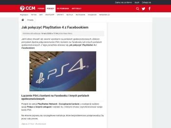 Jak połączyć PlayStation 4 z Facebookiem - CCM