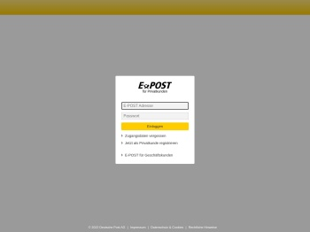 E-Post Login
