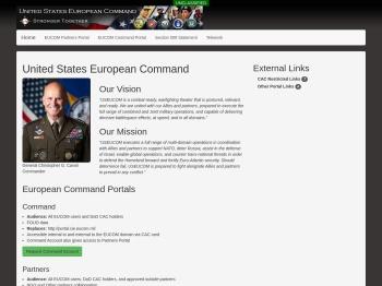 EUCOM Portal Landing Page