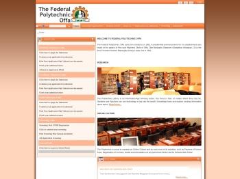 Federal Polytechnic Offa Portal - The Federal Polytechnic Offa