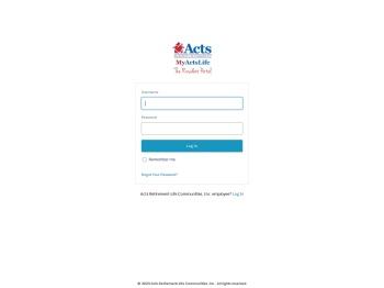 MyActsLife Portal: Login - Acts Retirement Life Communities