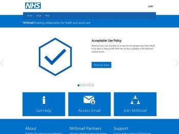 NHSmail 2 Portal - Home