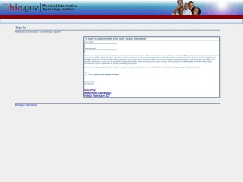 Ohio MITS Login Page - (Unauthenticated)