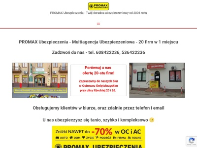 PROMAX Ubezpieczenia - Multiagencja ubezpieczeniowa - 20 firm w 1 miejscu - Twój