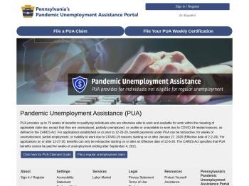 Pennsylvania's Pandemic Unemployment Assistance Portal
