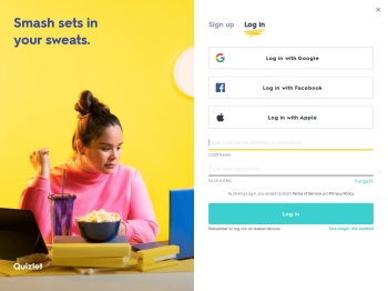 Log in to Quizlet | Quizlet