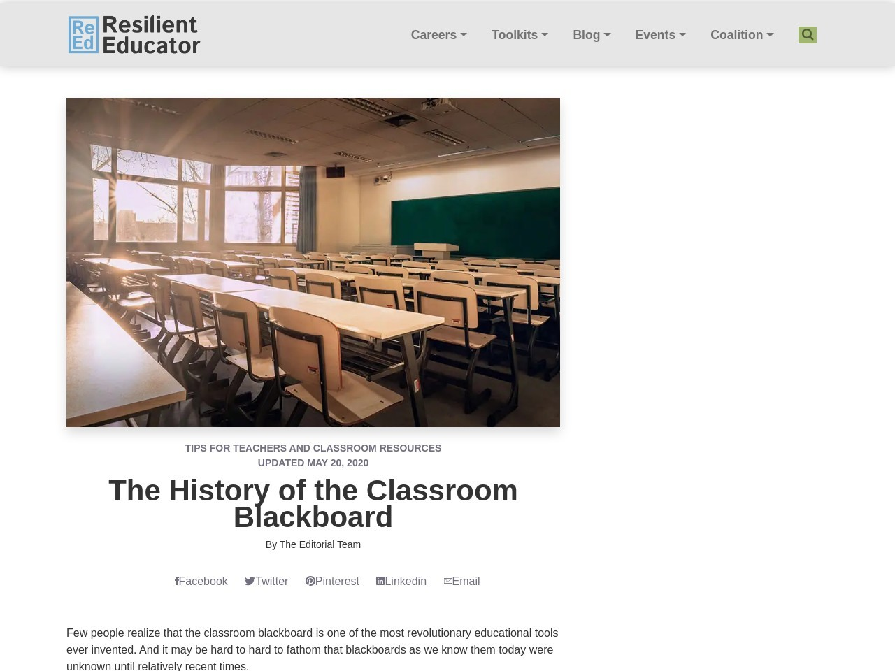 History of the Classroom Blackboard   Resilient Educator