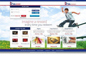 RBL Rewards Portal - Login - RBL Bank