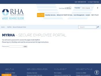 MyRHA - Secure Employee Portal   RHA Health Services