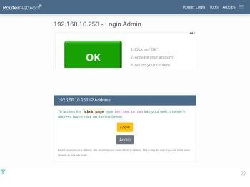 192.168.10.253 - Login Admin - Router Network
