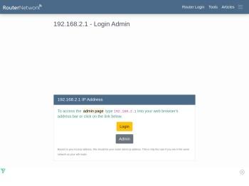 192.168.2.1 - Login Admin - Router Network