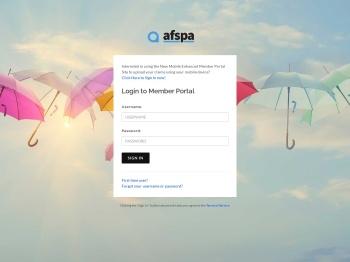 AFSPA Member Portal Login