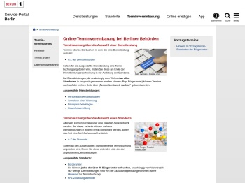 Online-Terminvereinbarung bei Berliner Behörden - Service ...