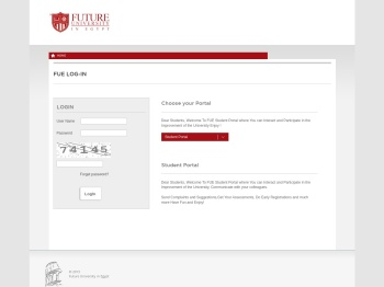 Student Portal - FUE log-in - Future University