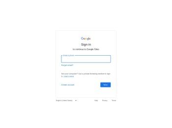 Google Sites: Sign-in