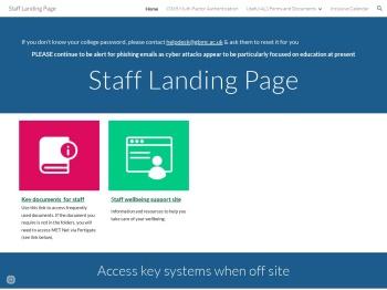 Staff Landing Page - Google Sites