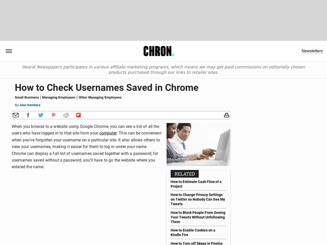 How to Check Usernames Saved in Chrome